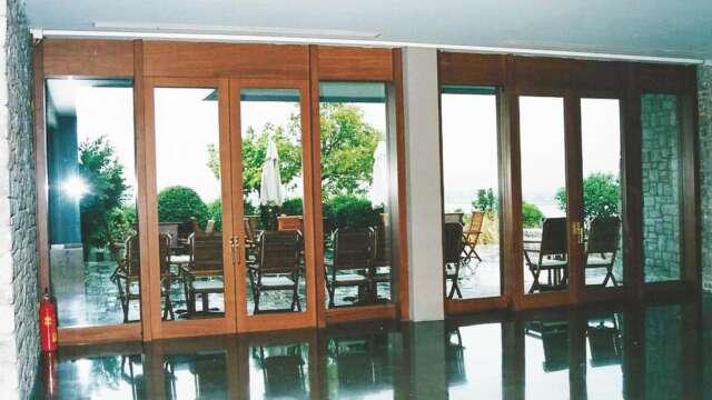 Exterior doors of solid IROCO