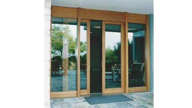 Dual sash sliding door of solid IROCO