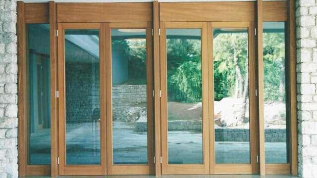 Casement balcony door of solid IROCO