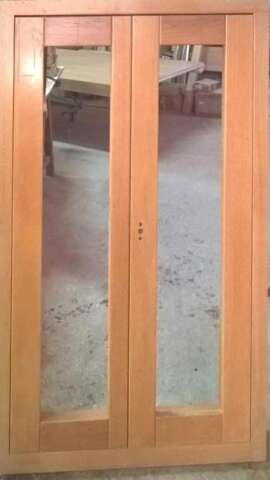 Window of solid OAK with hidden hinges