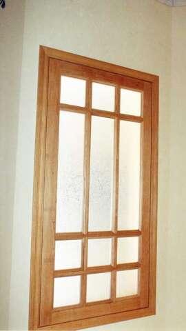 Σταθερό παράθυρο με ξύλο ΣΦΕΝΔΑΜΟΣ
