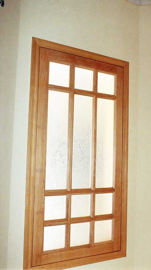 Fixed wooden window of MAPLE