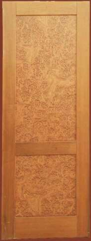 Interior door of solid WALNUT and veneer of walnut root ALPI