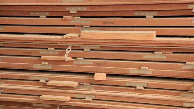 Palette de portes et fenêtres tous faits en bois massif SIPO