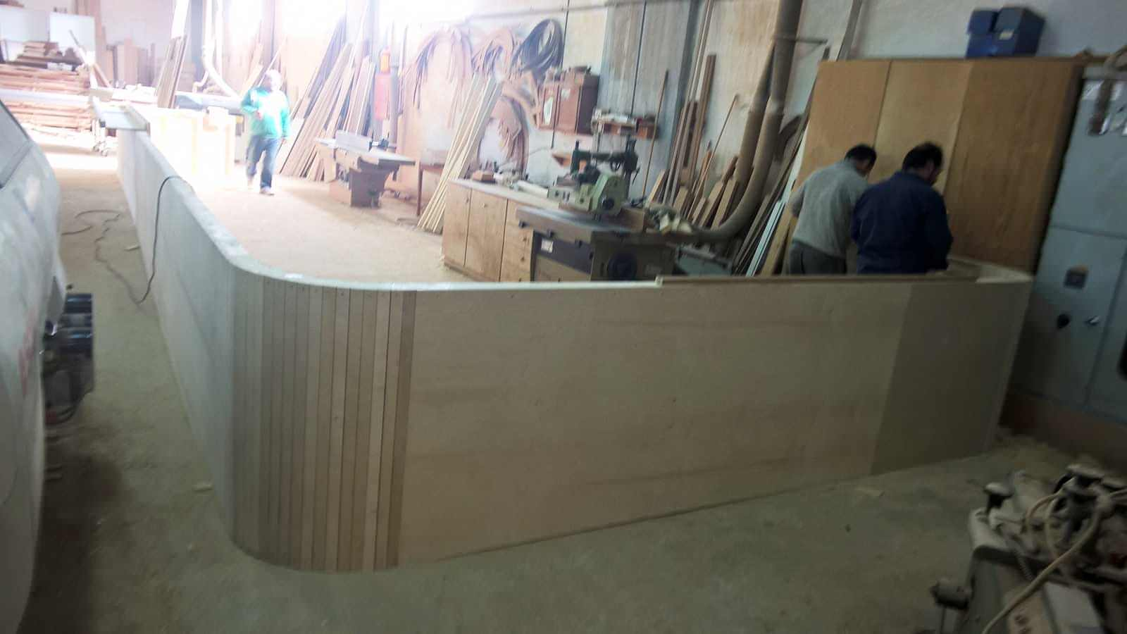 Initial stage of bar construction