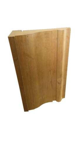 Exterior pelmet of door frames, width 32 cm, of solid wood