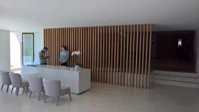 Reception desk made of OAK solid wood