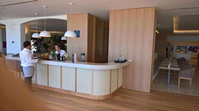 Hotel bar with wood OAK