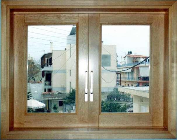 Dual sash sliding wooden window of MAPLE