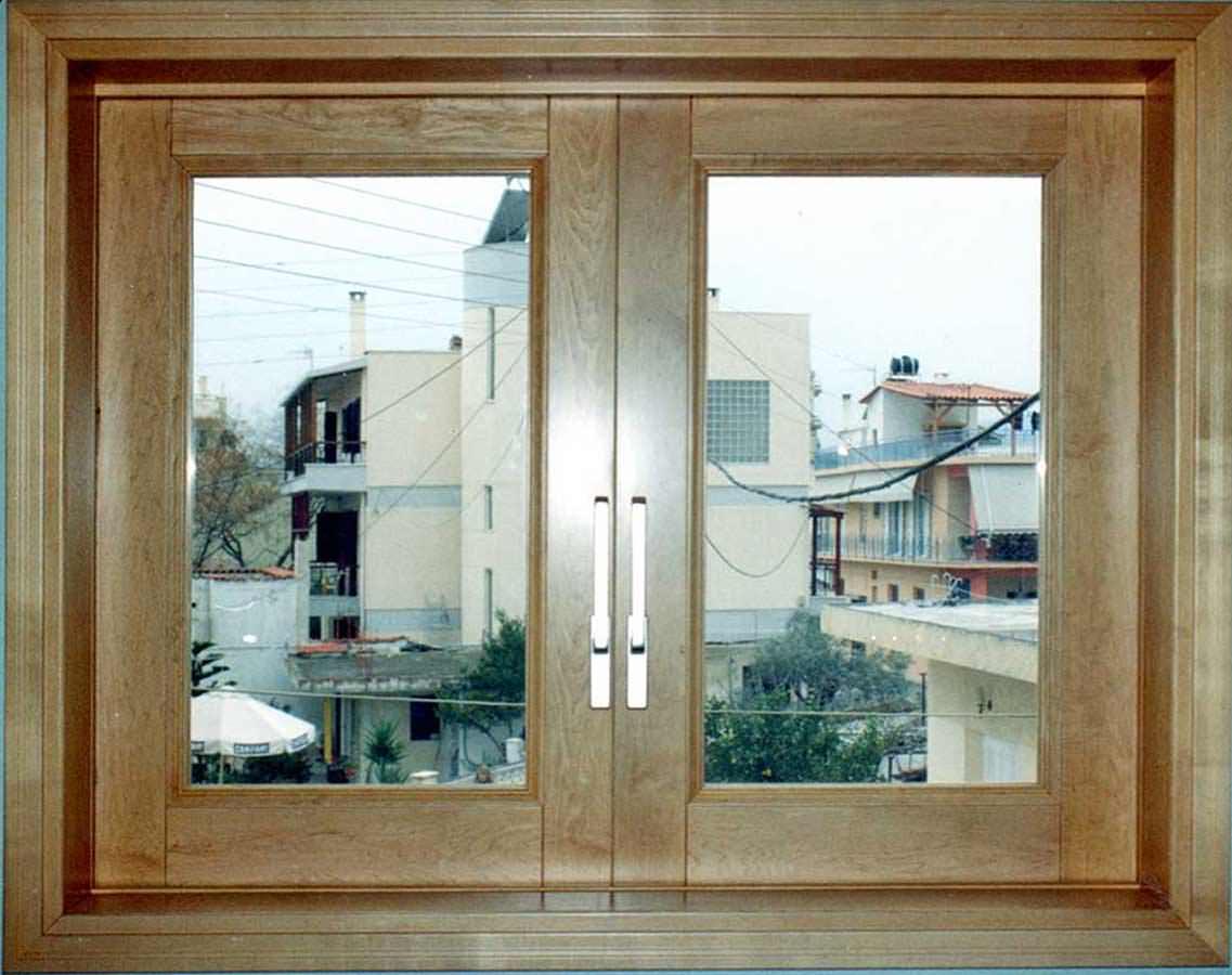 Δίφυλλο παράθυρο συρόμενο ξύλο ΣΦΕΝΔΑΜΟΣ